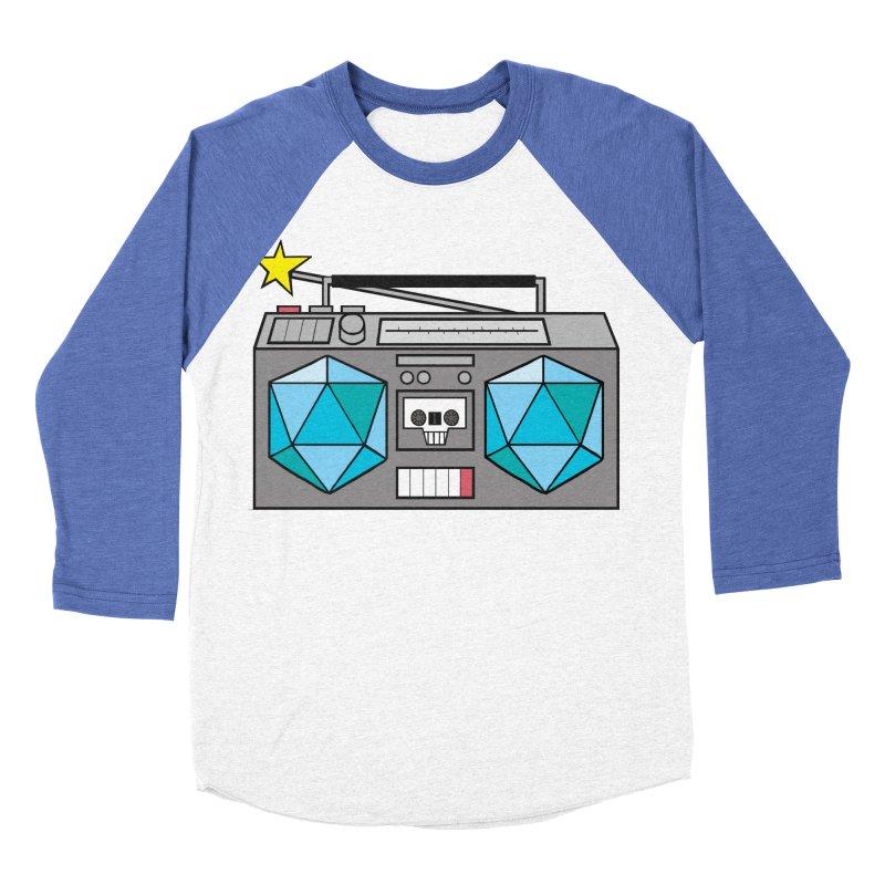2d20 BoomBox Men's Baseball Triblend Longsleeve T-Shirt by brianmcl's Artist Shop
