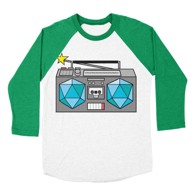2d20 BoomBox Men's Baseball Triblend Longsleeve T-Shirt by brianmcl's Artist Shop