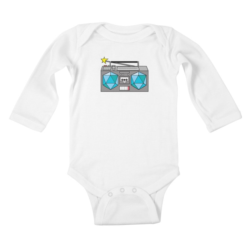 2d20 BoomBox Kids Baby Longsleeve Bodysuit by brianmcl's Artist Shop