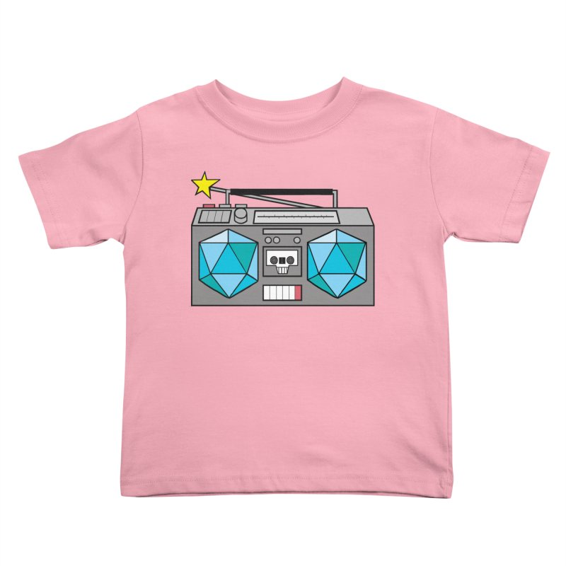 2d20 BoomBox Kids Toddler T-Shirt by brianmcl's Artist Shop