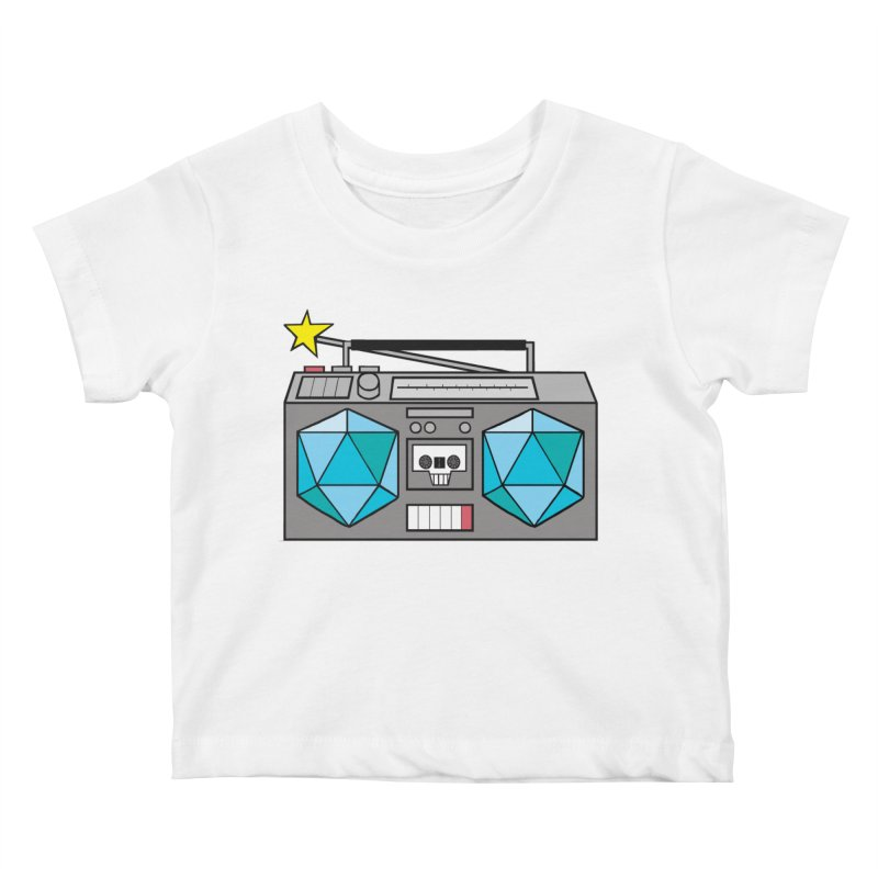 2d20 BoomBox Kids Baby T-Shirt by brianmcl's Artist Shop