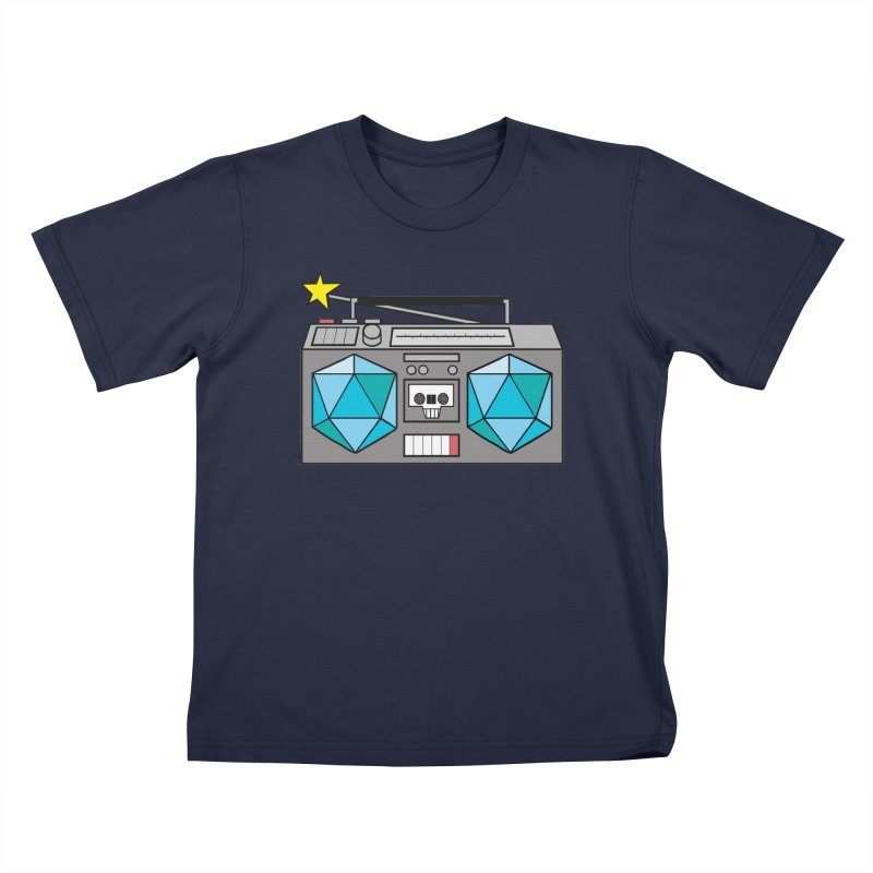 2d20 BoomBox Kids T-Shirt by brianmcl's Artist Shop