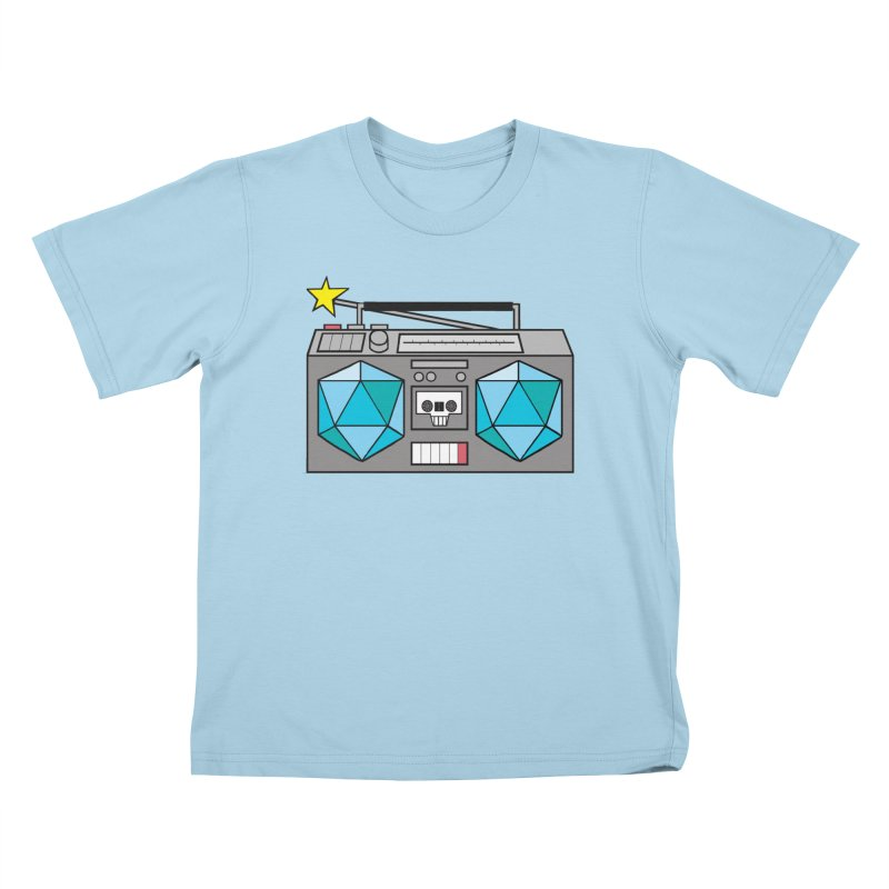 2d20 BoomBox Kids T-Shirt by brianmcl's Artist Shop