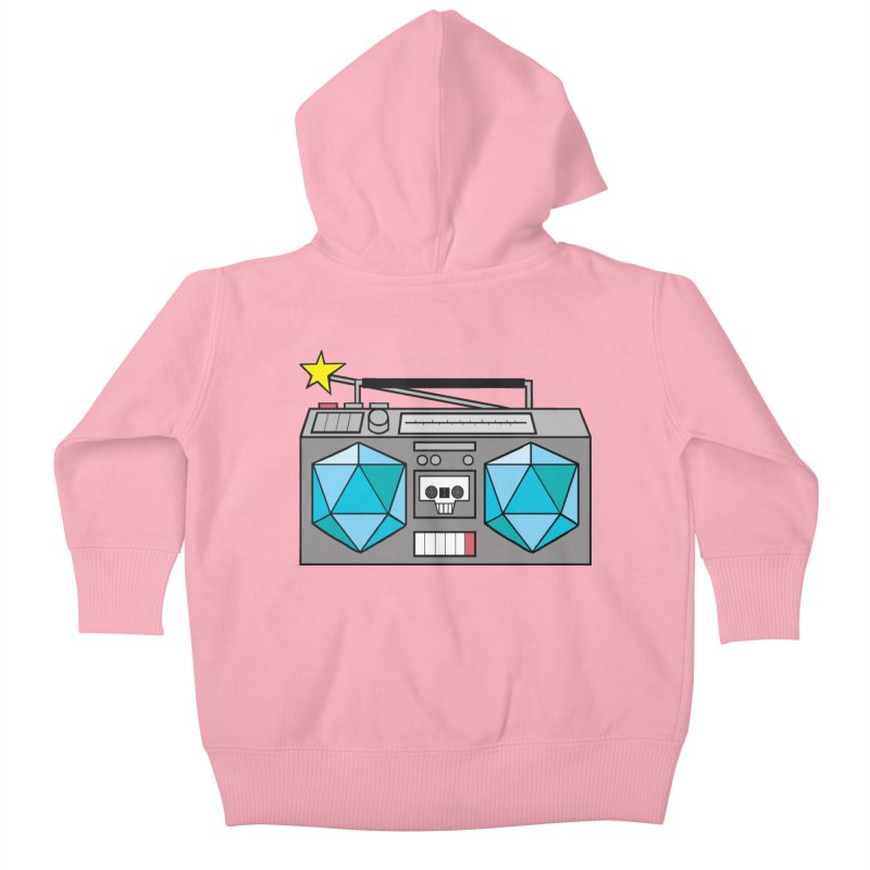 2d20 BoomBox Kids Baby Zip-Up Hoody by brianmcl's Artist Shop