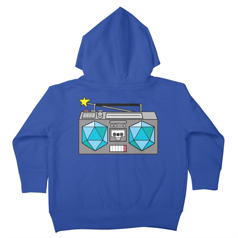 2d20 BoomBox Kids Toddler Zip-Up Hoody by brianmcl's Artist Shop