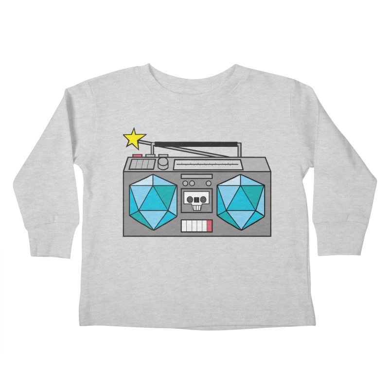 2d20 BoomBox Kids Toddler Longsleeve T-Shirt by brianmcl's Artist Shop