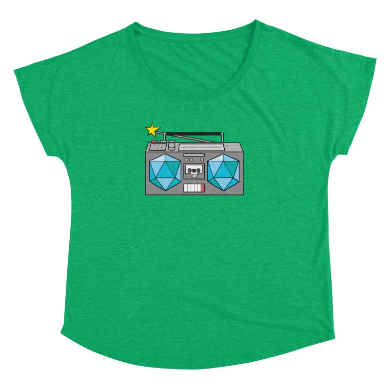 2d20 BoomBox Women's Dolman Scoop Neck by brianmcl's Artist Shop