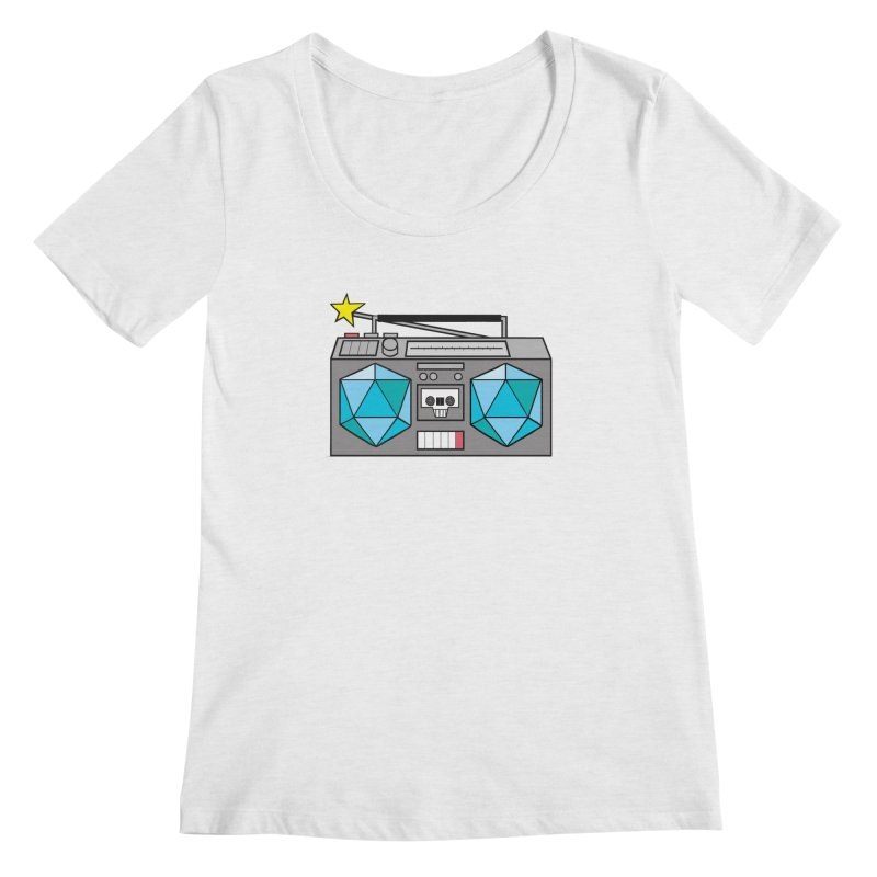 2d20 BoomBox Women's Scoop Neck by brianmcl's Artist Shop