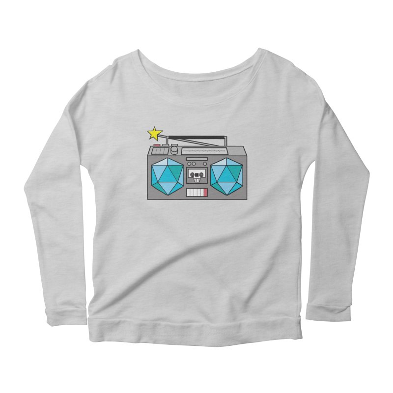 2d20 BoomBox Women's Scoop Neck Longsleeve T-Shirt by brianmcl's Artist Shop