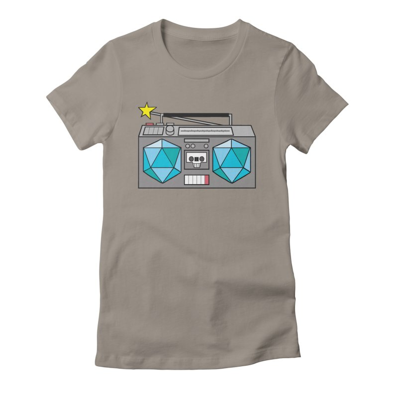 2d20 BoomBox Women's Fitted T-Shirt by brianmcl's Artist Shop