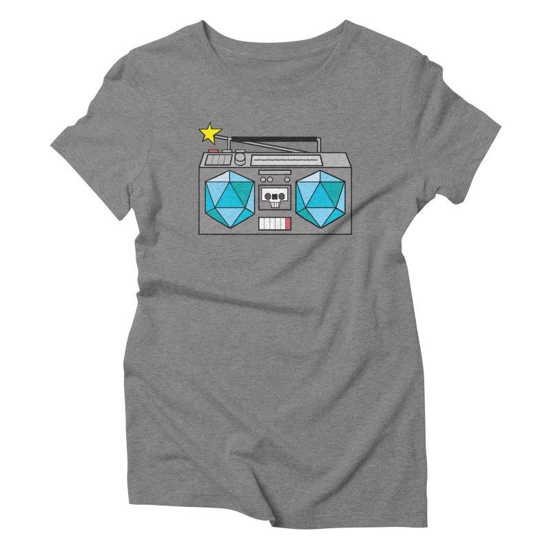 2d20 BoomBox Women's Triblend T-Shirt by brianmcl's Artist Shop