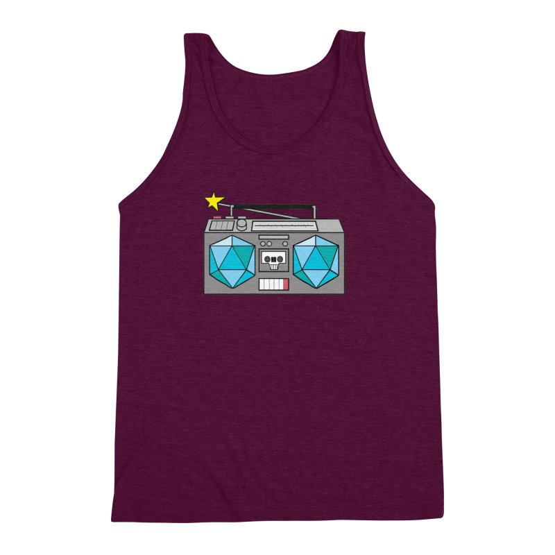 2d20 BoomBox Men's Triblend Tank by brianmcl's Artist Shop