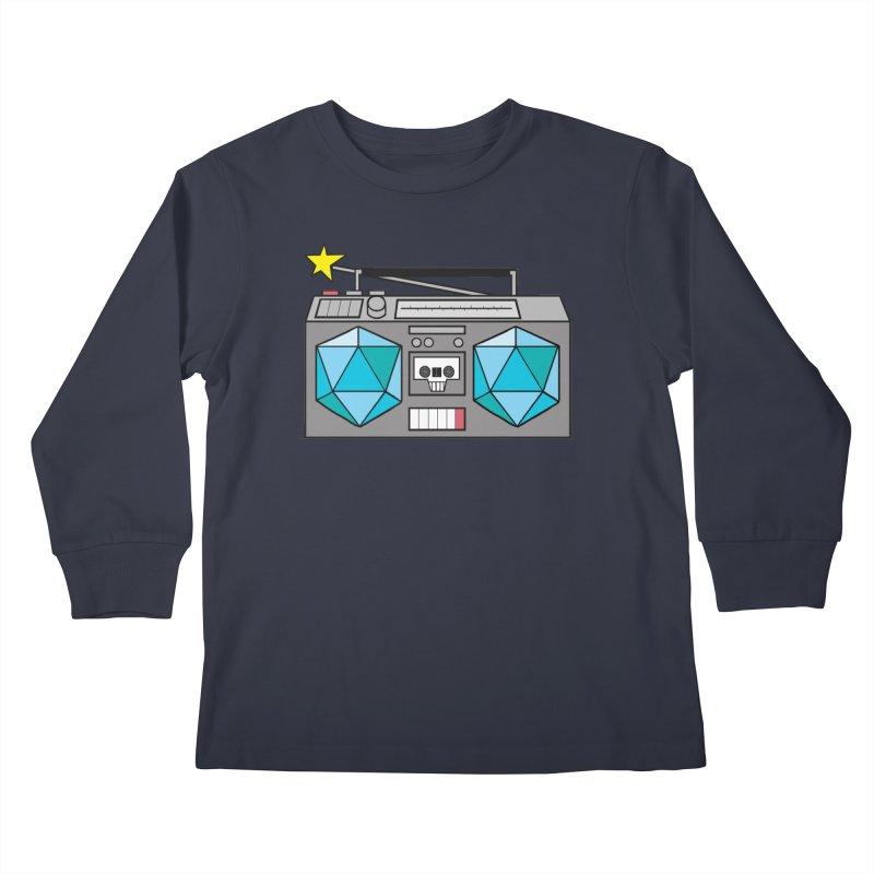 2d20 BoomBox Kids Longsleeve T-Shirt by brianmcl's Artist Shop