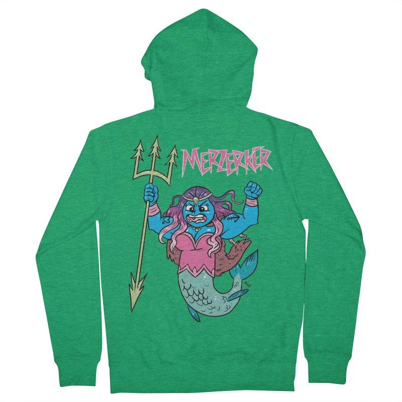 Merzerker Men's Zip-Up Hoody by brianmcl's Artist Shop