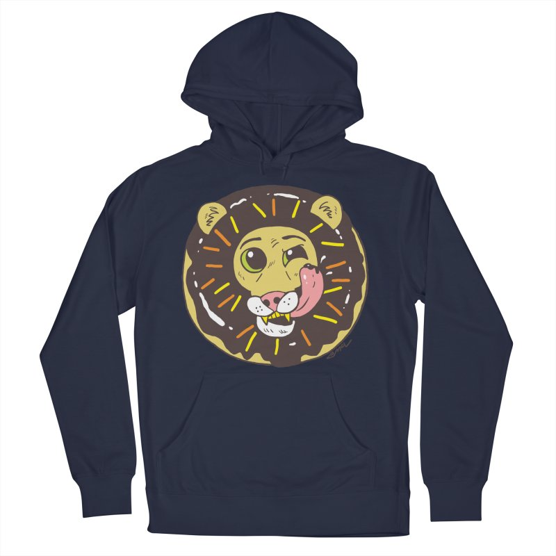Donut Lion Women's French Terry Pullover Hoody by brianmcl's Artist Shop