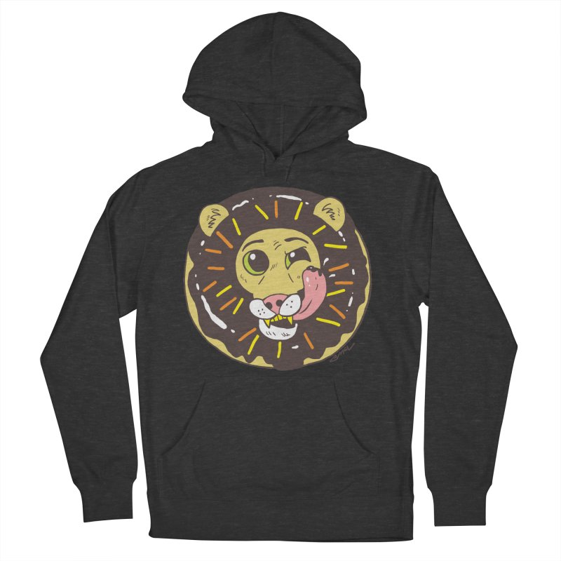 Donut Lion Men's French Terry Pullover Hoody by brianmcl's Artist Shop
