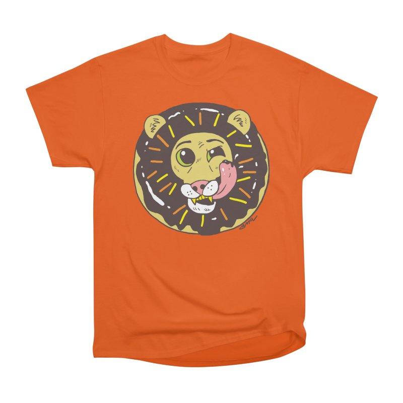 Donut Lion Men's Heavyweight T-Shirt by brianmcl's Artist Shop