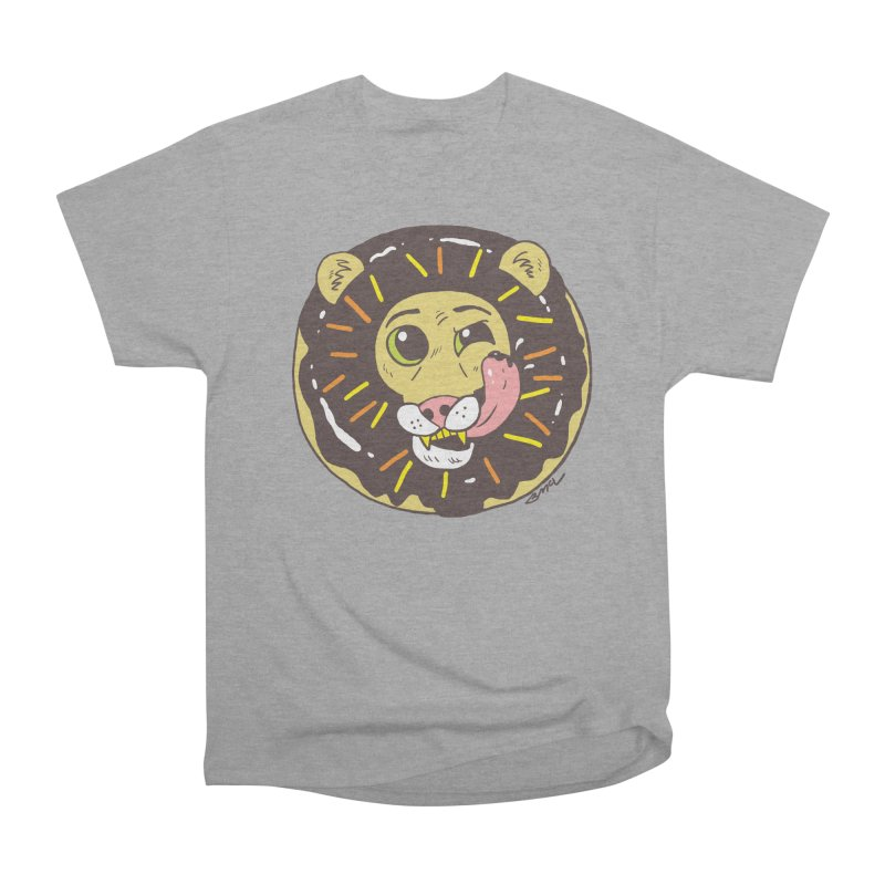 Donut Lion Men's Heavyweight T-Shirt by brianmcl's Artist Shop
