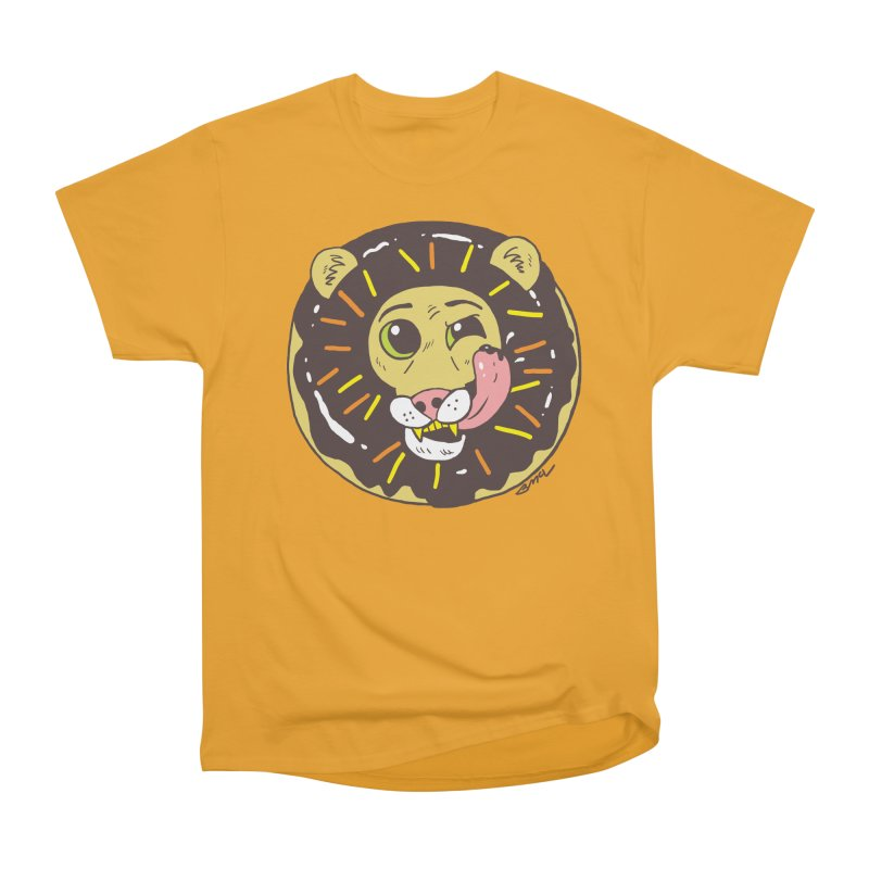 Donut Lion Women's Heavyweight Unisex T-Shirt by brianmcl's Artist Shop