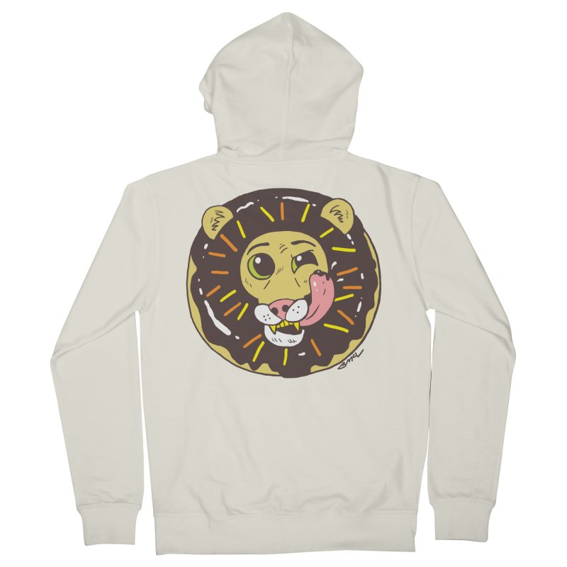 Donut Lion Women's French Terry Zip-Up Hoody by brianmcl's Artist Shop