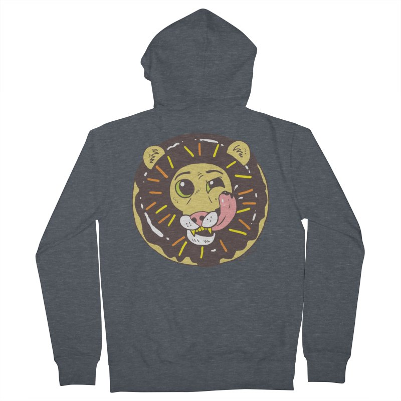 Donut Lion Men's French Terry Zip-Up Hoody by brianmcl's Artist Shop