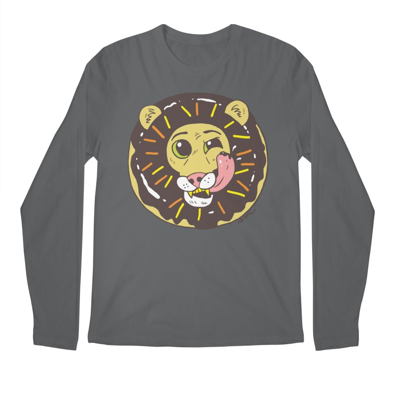 Donut Lion Men's Longsleeve T-Shirt by brianmcl's Artist Shop