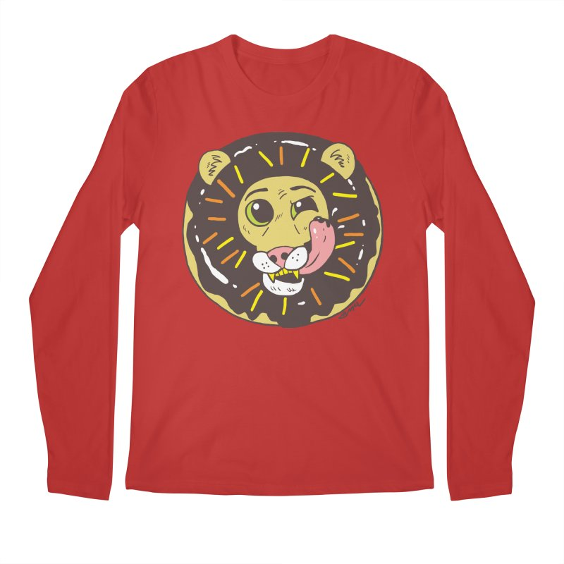 Donut Lion Men's Regular Longsleeve T-Shirt by brianmcl's Artist Shop