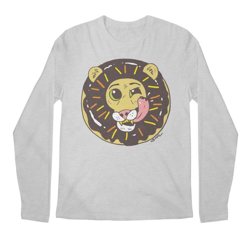 Donut Lion Men's Regular Longsleeve T-Shirt by brianmcl's Artist Shop
