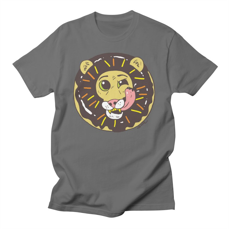 Donut Lion Men's T-Shirt by brianmcl's Artist Shop