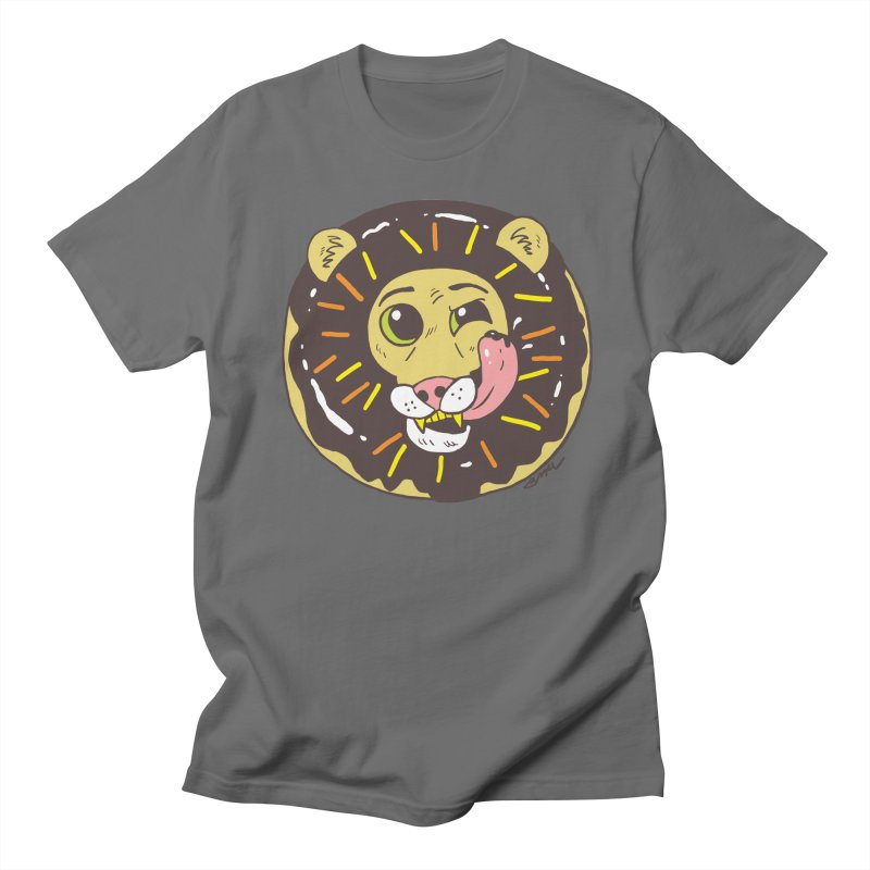 Donut Lion Men's T-Shirt by brianmcl's Artist Shop