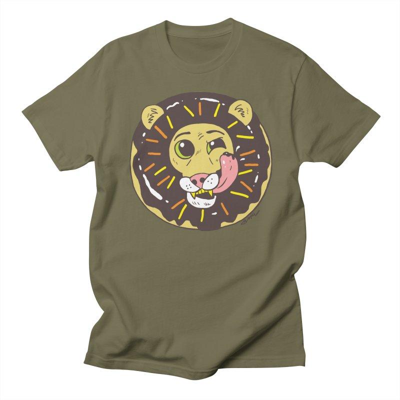 Donut Lion Women's Regular Unisex T-Shirt by brianmcl's Artist Shop