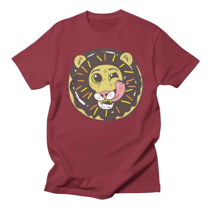 Donut Lion Men's Regular T-Shirt by brianmcl's Artist Shop