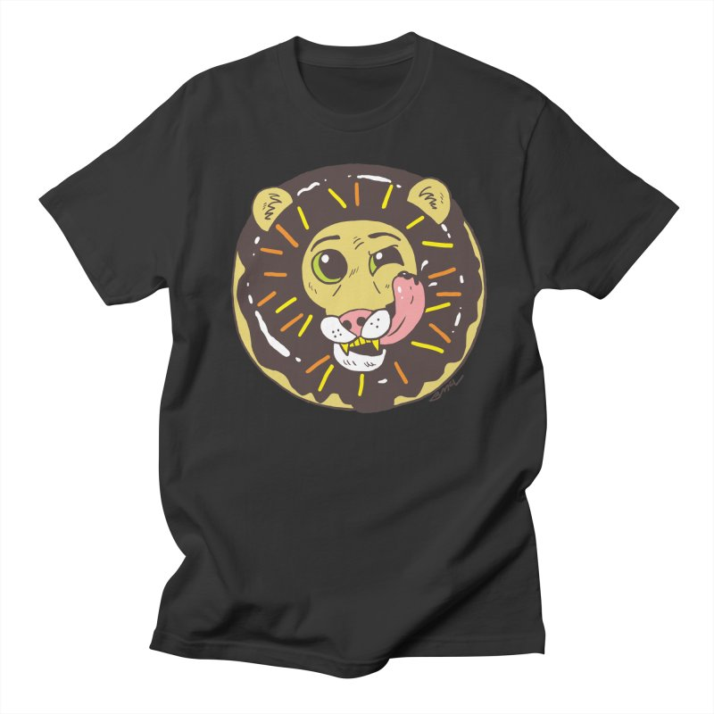 Donut Lion Men's Regular T-Shirt by brianmcl's Artist Shop