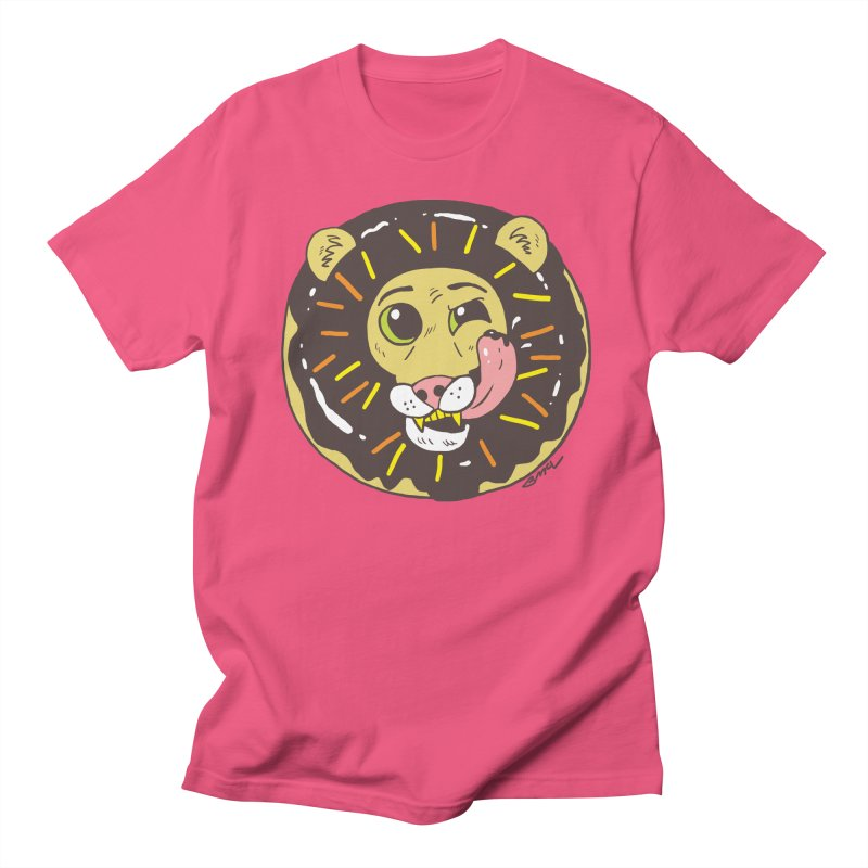 Donut Lion Women's Regular Unisex T-Shirt by brianmcl's Artist Shop