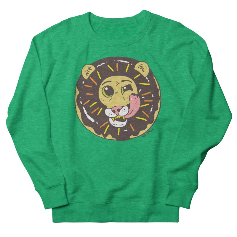 Donut Lion Women's Sweatshirt by brianmcl's Artist Shop