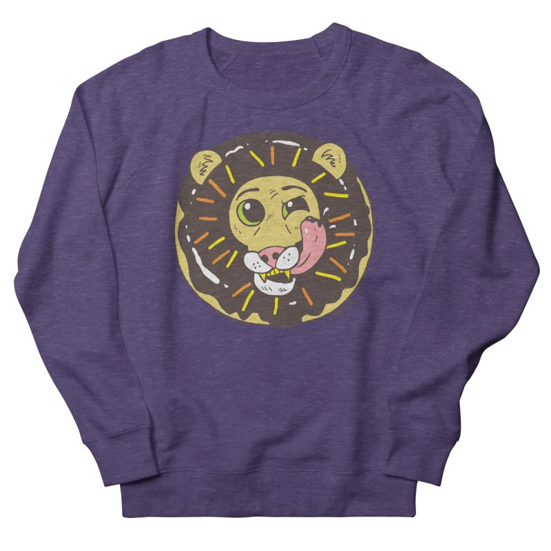 Donut Lion Women's French Terry Sweatshirt by brianmcl's Artist Shop