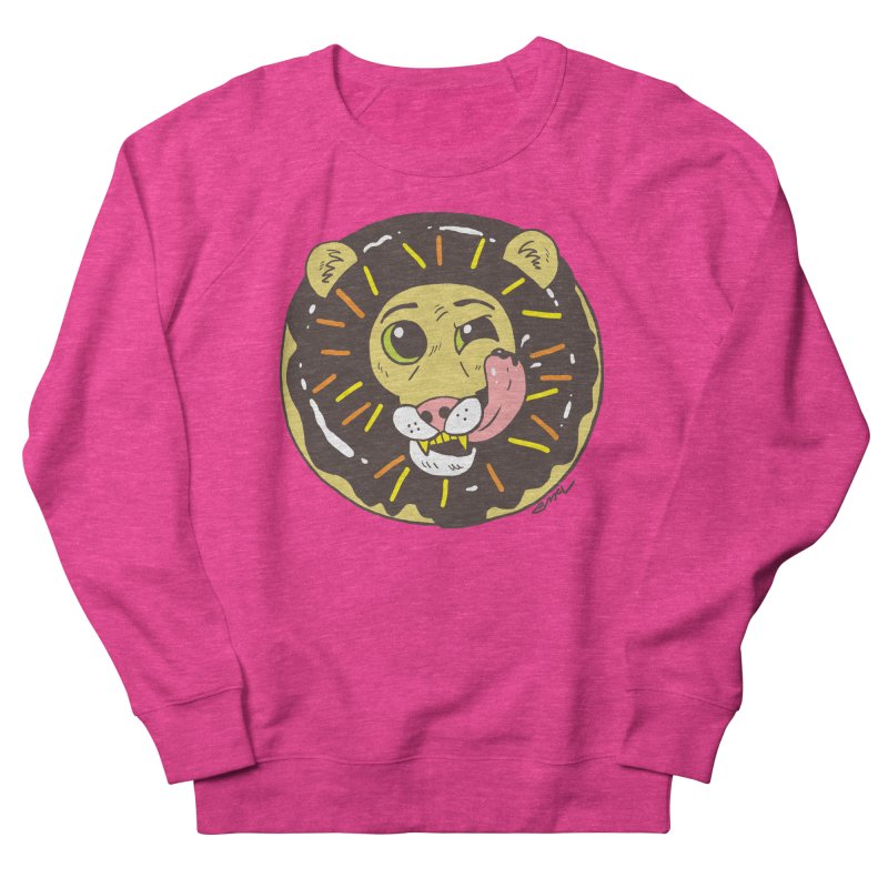 Donut Lion Men's French Terry Sweatshirt by brianmcl's Artist Shop
