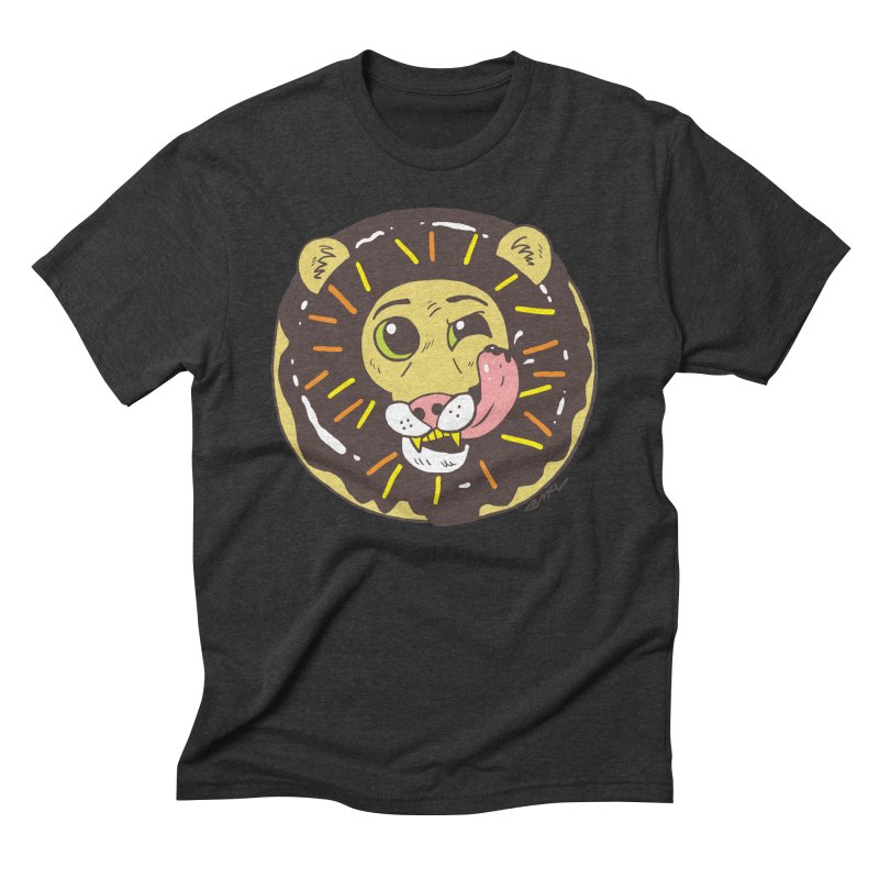 Donut Lion Men's Triblend T-Shirt by brianmcl's Artist Shop
