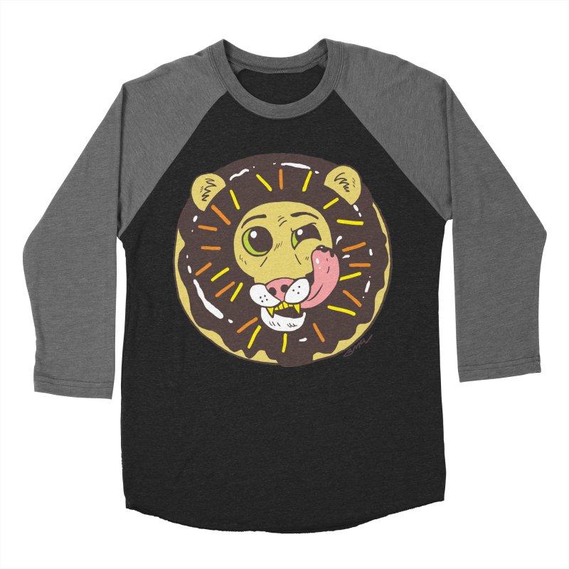 Donut Lion Women's Baseball Triblend Longsleeve T-Shirt by brianmcl's Artist Shop