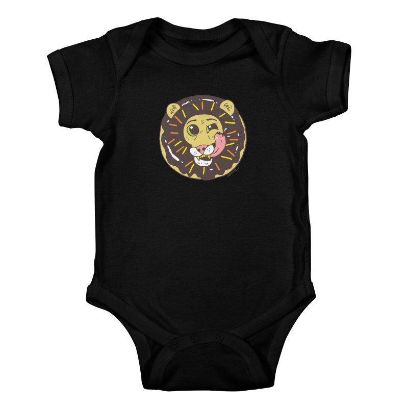 Donut Lion Kids Baby Bodysuit by brianmcl's Artist Shop