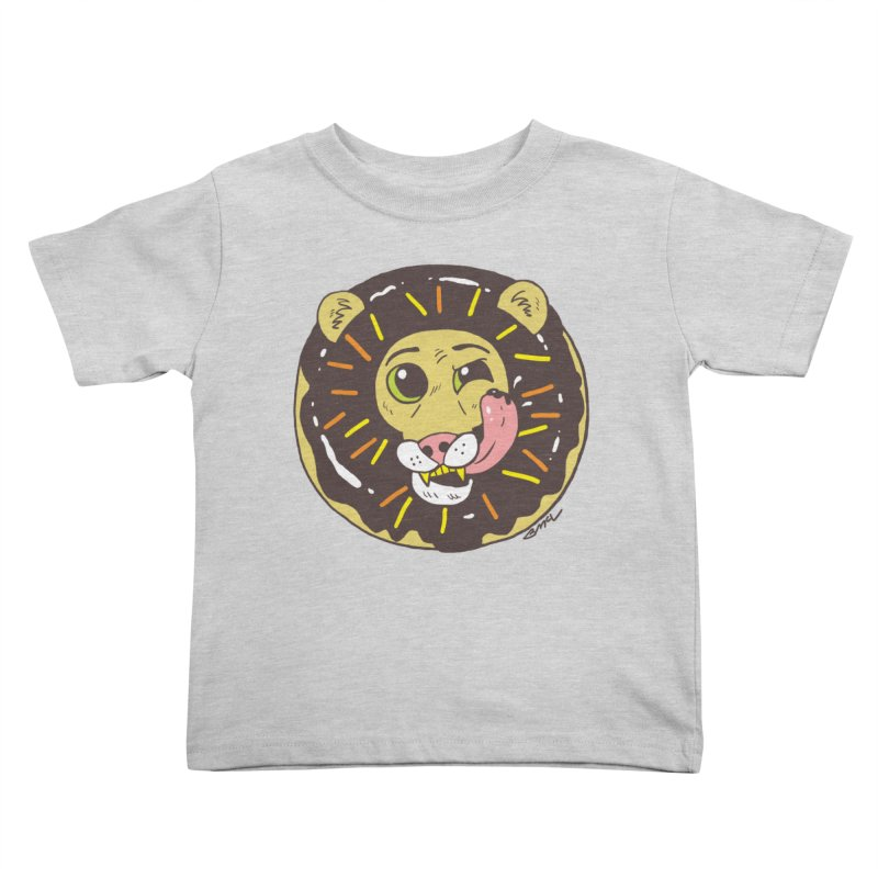 Donut Lion Kids Toddler T-Shirt by brianmcl's Artist Shop