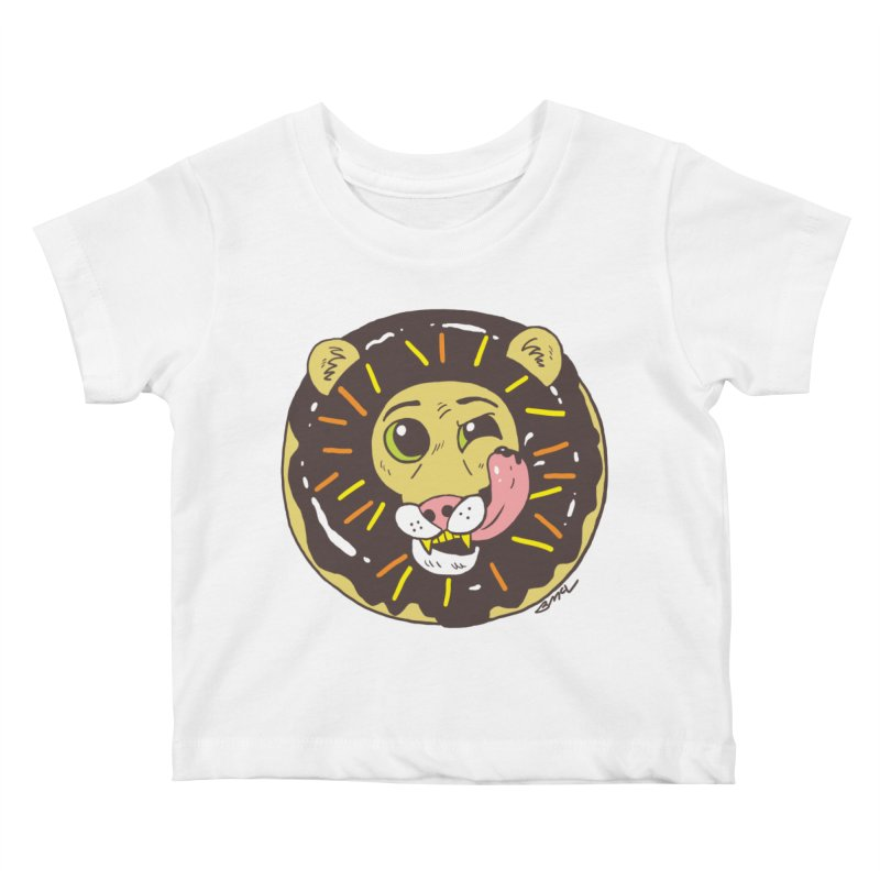 Donut Lion Kids Baby T-Shirt by brianmcl's Artist Shop