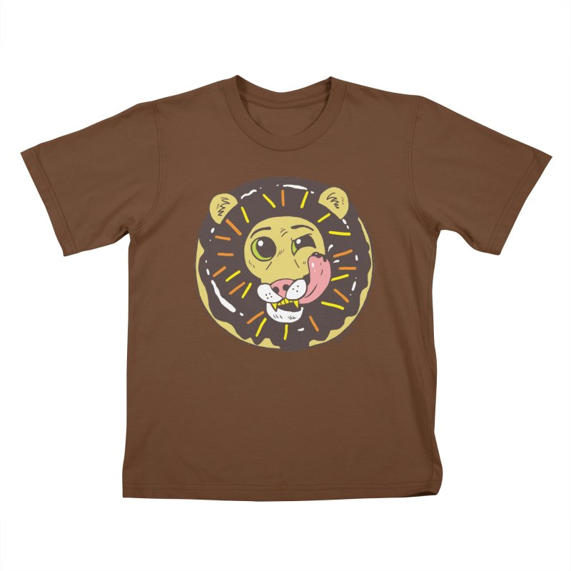 Donut Lion Kids T-Shirt by brianmcl's Artist Shop