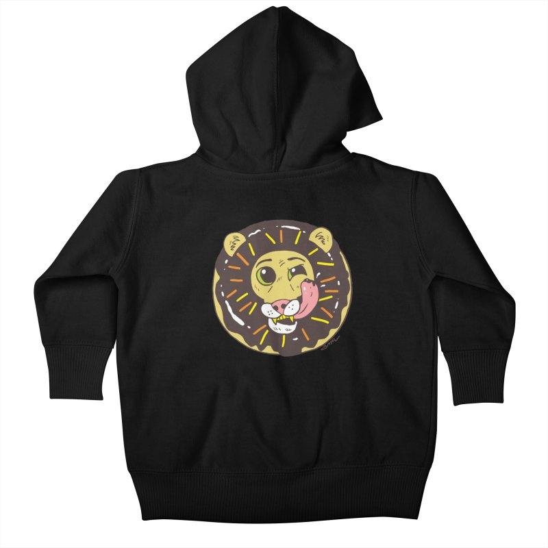 Donut Lion Kids Baby Zip-Up Hoody by brianmcl's Artist Shop