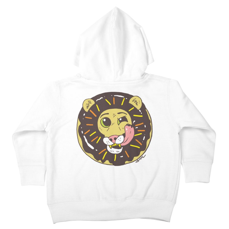 Donut Lion Kids Toddler Zip-Up Hoody by brianmcl's Artist Shop