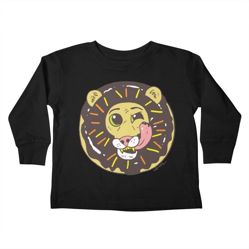 Donut Lion Kids Toddler Longsleeve T-Shirt by brianmcl's Artist Shop