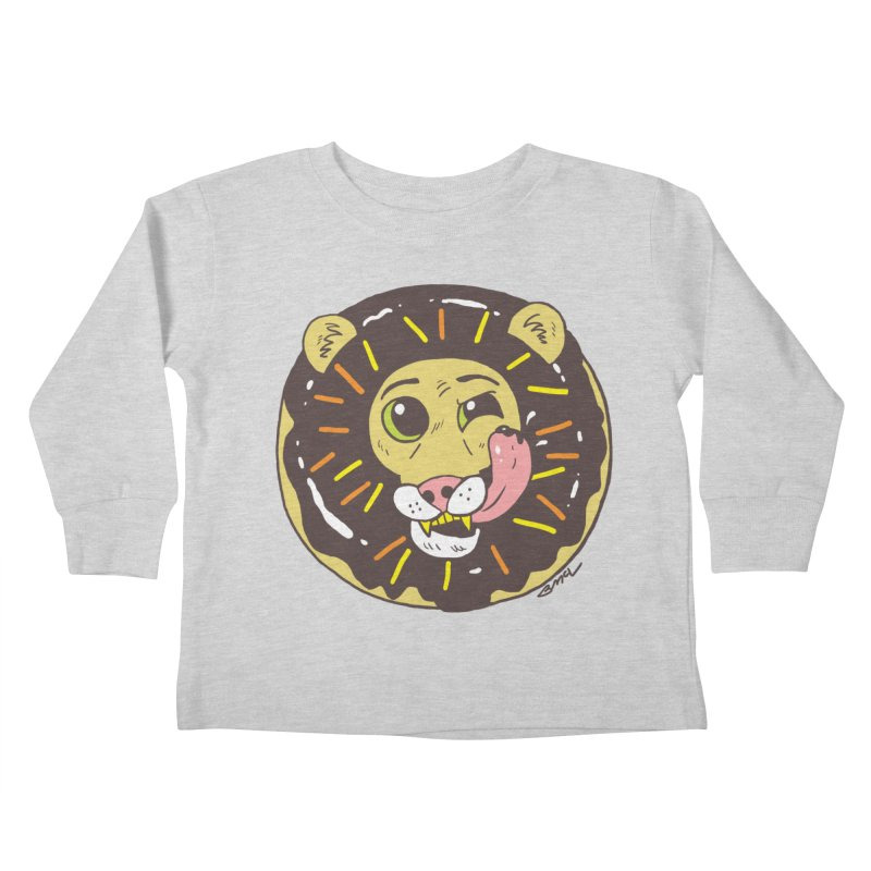 Donut Lion Kids Toddler Longsleeve T-Shirt by brianmcl's Artist Shop