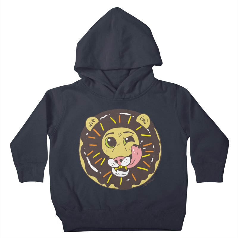 Donut Lion Kids Toddler Pullover Hoody by brianmcl's Artist Shop