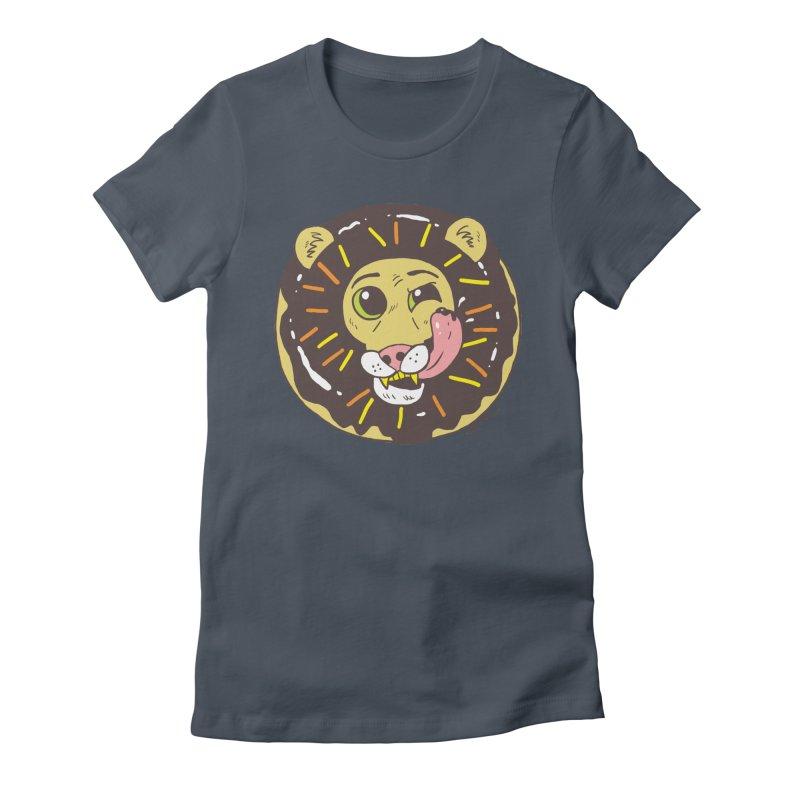Donut Lion Women's T-Shirt by brianmcl's Artist Shop