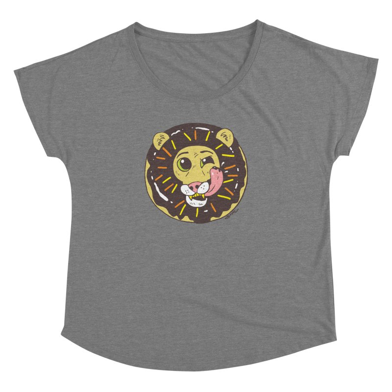Donut Lion Women's Dolman Scoop Neck by brianmcl's Artist Shop